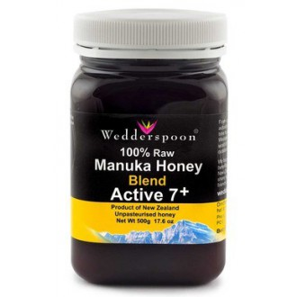 SUROVÁ směs manukového medu Wedderspoon Active 7+ 500 g