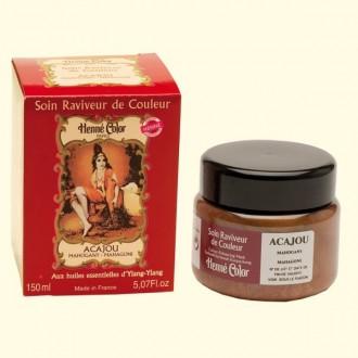 Henna regenerační a výživná maska mahagon