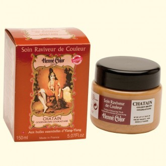 Henna regenerační a výživná maska kaštan