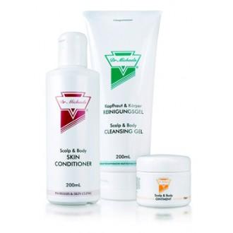 DR.MICHAELS Sada čistící gel+tělové olej+mast