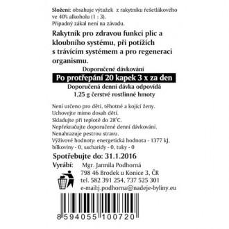 Rakytník řešetlák - výtažek z byliny