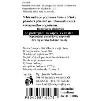 Schizandra - Klanopraška - výtažek z byliny