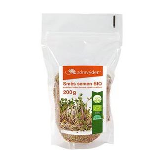 Výrobky podle značek - Směs semen na klíčení BIO - brokolice, ředkev červená, jetel 200g