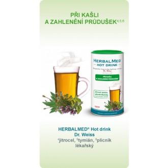 HERBALMED® Hot drink Dr. Weiss - PŘI KAŠLI A ZAHLENĚNÍ PRŮDUŠEK*