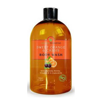 Výrobky podle značek - Sprchový a koupelový gel s manukovým medem, vitamínem E a heřmánkem - 500ml