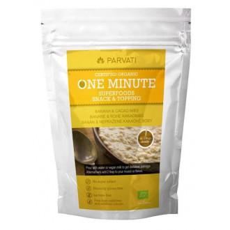 Výrobky podle značek - One Minute Superfoods Snack & Topping - BANÁN & NEPRAŽENÉ KAKAOVÉ BOBY