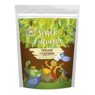 Dětská snídaně Snack z džungle BIO - SNÍDANĚ S KAROBEM 300g