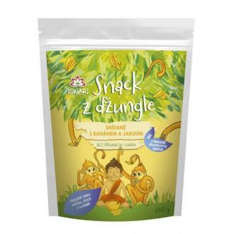 Dětská snídaně Snack z džungle BIO - SNÍDANĚ S BANÁNEM A JABLKEM 300g
