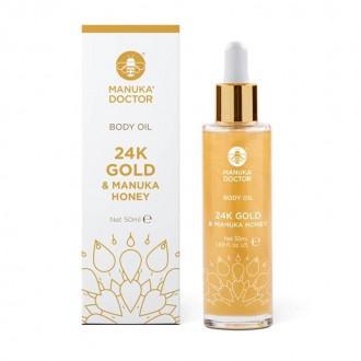 Tělový olej s Manukovým medem a 24K zlatem 50 ml