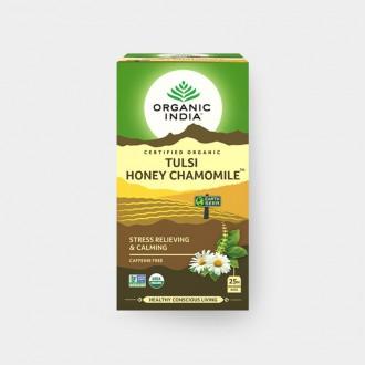 Tulsi med+heřmánek BIO, 25 sáčky - Bio - Organic India