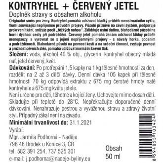 Kontryhel + červený jetel 50ml