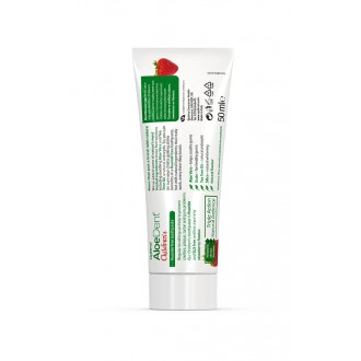 Aloe Dent dětská zubní pasta - jahoda s koenzymem Q10, Tea Tree a oxidem křemičitým