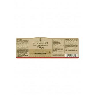 Solgar Vitamín K1 100 ug