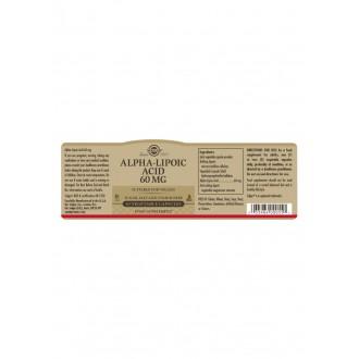 Solgar ALA 60mg - Kyselina alfa lipoová