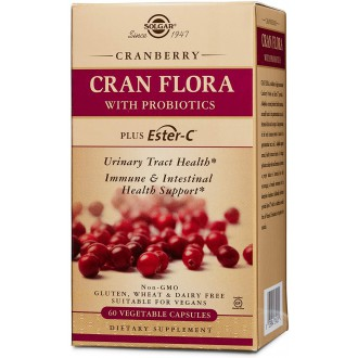 Solgar CRAN FLORA - brusinky s probiotiky plus Ester-C