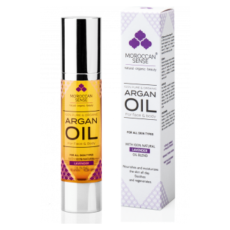 MOROCCAN ORGANIC ARGANOVÝ OLEJ PRO PLEŤ A TĚLO (with 100% Natural Lavender Oil Blend)