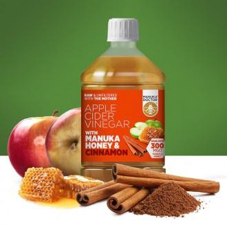 Jablečný ocet s Manukovým medem a skořicí 500ml