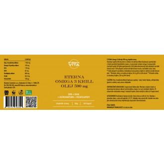 Sada 9 ks - ETERNA Omega 3 Krill olej 590 mg 60 cps.
